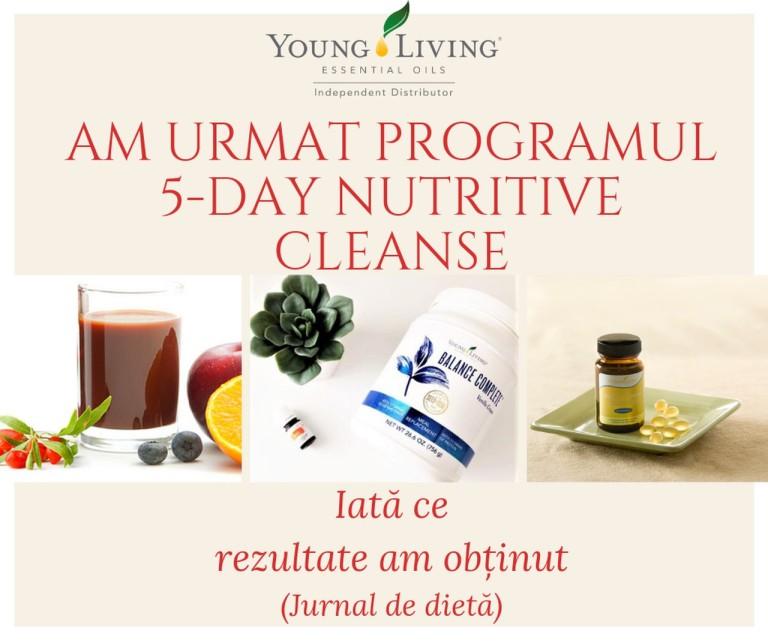 Jurnal dieta 5- Day Nutritive Cleanse - titlu